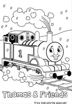Happy Thomas for Kids | Thomas and Friend Coloring Pages | Pinterest
