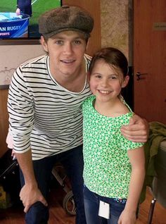 Niall with a fan in London today