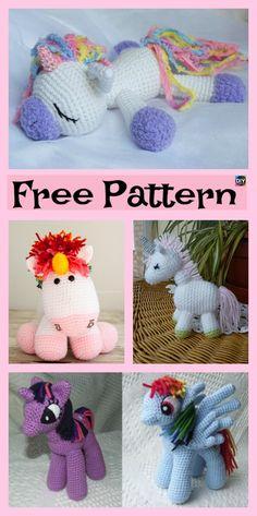 10 Cutest Crochet Unicorn Free Patterns #freecrochetpatterns #unicorn