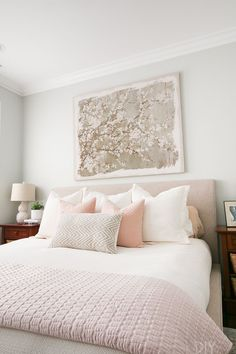 Look at this cozy bedroom space! Love the white duvet, the decorative pillow fro. Look at this cozy bedroom space! Love the white duvet, the decorative pillow from HomeGoods, and the upholstered bed to really elevate the look (Sponsored Pin) Serene Bedroom, Feminine Bedroom, Cozy Bedroom, Bedroom Apartment, Home Decor Bedroom, Modern Bedroom, Bedroom Ideas, Master Bedroom, Bedroom Black