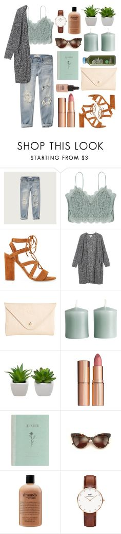 """05"" by njxne ❤ liked on Polyvore featuring Abercrombie & Fitch, Monki, Joshu+Vela, H&M, Charlotte Tilbury, Wildfox, philosophy, Daniel Wellington and Topshop"