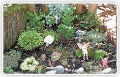 A corner Faerie Garden Fairy Gardening, My Fairy Garden, Gnome Garden, Lawn And Garden, Girly Stuff, Fun Stuff, Fairy Music, Fairy Garden Supplies, Garden Container
