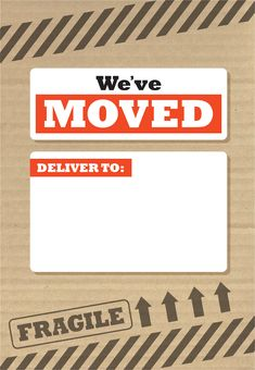 free printable moving announcement templates