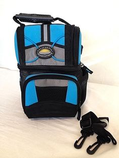 CALIFORNIA INNOVATIONS LIGHT BLUE LUNCH BAG THERMAL INSULATED / SHOULDER STRAP #CALIFORNIAINNOVATIONS