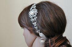 Bridal Headband Vintage Headpiece MAKAYLA by WeddingHeadband, $31.99