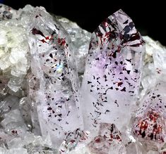 Quartz with Hematite & Goethite Inclusions Crystals from Brandberg Mts., Namibia