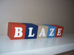 Baby Name Blocks  Nursery Decor by BlockaholicBoutique on Etsy, $5.00