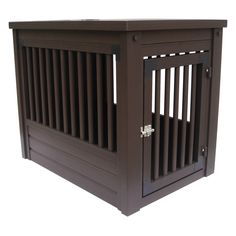 Dog crates that fit in with the furniture! Habitat-n-Home InnPlace Crate/Table - Espresso $105.99 at hayneedle