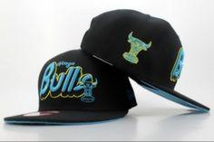 Casquette NBA Chicago Bulls Snapback Noir Bleu Logo Casquette New Era Pas Cher