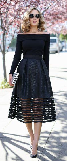 Bertha's Classic Stylish Black Dress