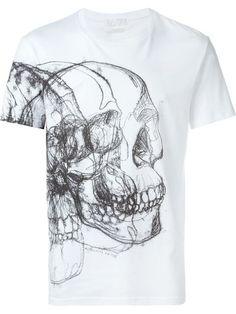 ALEXANDER MCQUEEN Skull Print T-Shirt. #alexandermcqueen #cloth #t-shirt