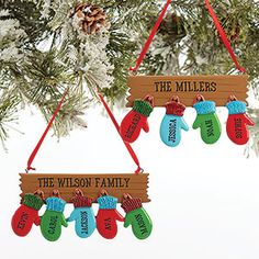 Personalized Glove Family Christmas Ornament - 3 Names 51 unique DIY Christmas gifts for family & friends The chic pursuitThe best cheap DIY Christmas gift ideas for family & friends: Hot Cocoa Mix Ornaments Family Christmas Ornaments, Personalized Christmas Ornaments, Diy Christmas Ornaments, Homemade Christmas, Diy Christmas Gifts, Kids Christmas, Holiday Crafts, Christmas Decorations, Personalized Family Gifts