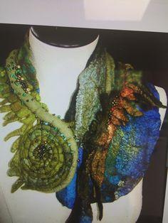 Nuno Felting, Crochet Necklace, Projects, Jewelry, Fashion, Log Projects, Moda, Blue Prints, Jewlery