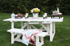 BeingBrook: Ana White Picnic Table {Building}