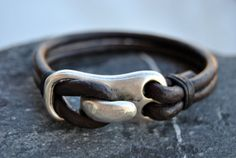Men bracelet leather men bracelet Men's leather by FosforStore, $23.00