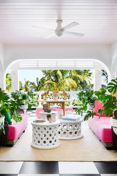 Coral Sands Resort Renovation in Harbour Island, Bahamas - Eddie Lee Interview Indoor Outdoor Living, Outdoor Rooms, Harbour Island Bahamas, Sands Resort, Beachfront Property, Interior Design Photos, Beach Bungalows, Mid Century Furniture, A Boutique