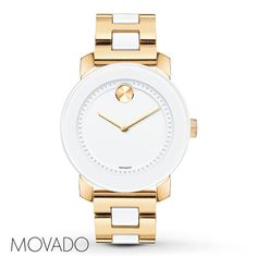 Movado® Gold and White Bold™ Watch