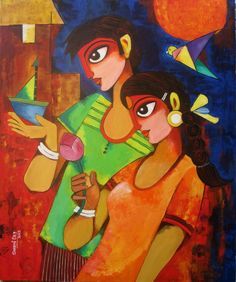 Image result for sharmi dey paintings GRANDMOTHERS DOLL