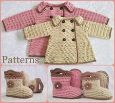 Baby girl crochet sweater beautiful 35 ideas for 2019 Crochet Baby Cardigan, Baby Girl Crochet, Booties Crochet, Baby Booties, Baby Patterns, Crochet Patterns, Baby Girl Sweaters, Baby Pullover, Warm Weather Outfits