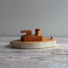 Vintage Model Tug Boat by ethanollie on Etsy