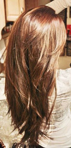 My Ideal Long-Layered Hair & Hair Color Hair Day, New Hair, Haircut For Thick Hair, Haircut Long, Cuts For Thick Hair, Haircut In Layers, Cute Hair Cuts Long, Shoulder Length Hair Cuts With Layers, Hairstyles For Thick Hair
