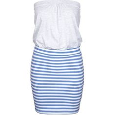 Even&Odd Jersey dress ($23) ❤ liked on Polyvore featuring dresses, blue, clothes / dresses, striped jersey, blue print dress, striped dress, blue dress and short striped dress