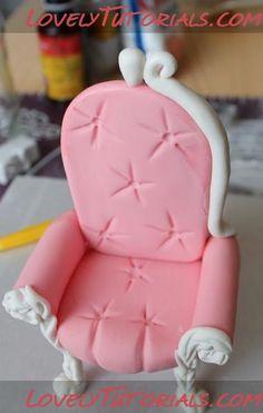 Chair fondant diy