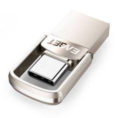 EAGET CU20 USB3.0 Type-C Pendrive USB OTG Type C 16GB 32GB 64GB Metal USB Flash Drive Dual Plug Sale - Banggood.com Usb, Laptop Accessories, St Kitts And Nevis, Laos, Flash Drive, Flash Memory
