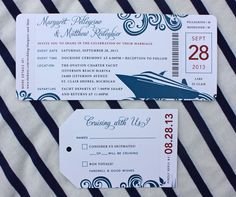 Cruise Wedding Invitations, Boat Invitation, Cruise Invitation, Nautical Wedding Invitations, Invitations Google, Guppy Invitations, Yacht Party Invitation