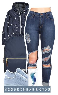 """11/2/15"" by codeineweeknds ❤ liked on Polyvore featuring H&M, Herschel Supply Co. and adidas"