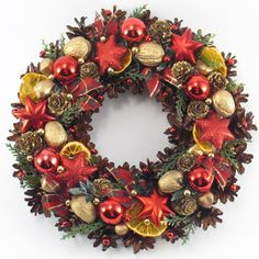 Christmas Wreath Pinecone Wreath Holiday Wreath by ZielonePalce