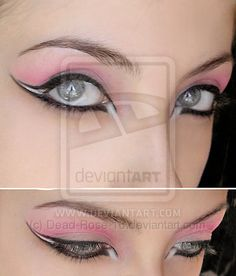 reminds me of ballet makeup