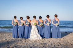 Periwinkle Blue #Bridesmaids Dresses I Michelle Amarillo Event Planning I See more @WeddingWire