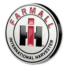 IH Farmall Logo Hitch Cover made of Metal with Powder Coat Finish