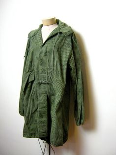 vintage Army green camouflage Parka trench by dirtybirdiesvintage, $75.00