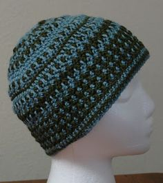 Yarn Yearnings: Dual Color crochet hat - free pattern.