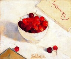 Gentilini, Franco (1909-1981) - 1932 Cup of Cherries (Private Collection) by RasMarley on Flickr. Oil on canvas; 29 x 35cm.