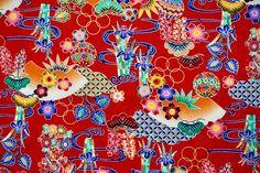 Japanese Cotton, Japanese Kimono, Vintage Japanese, Okinawa, Kimono Fabric, Cotton Fabric, Bank Holiday, Vintage Fabrics, Printed Cotton