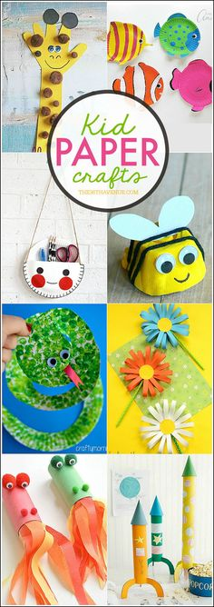 A collection of awesome Kid Paper Crafts for the holidays!