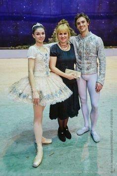 Sergei Polunin with his Mum and Natalia Osipova...The Nutcracker..Novosibirsk..31/12/15