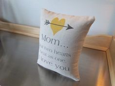mom gift pillow gift for mom love quote by SweetMeadowDesigns