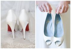 before the big day - real wedding - millie & nico - bride - getting ready - wedding shoes - christian louboutin