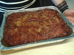 pie with orange and syrup . Vasilopita Recipe, Greek Desserts, Tasty Videos, Meatloaf, Lasagna, Holiday Recipes, Pork, Sweets, Beef