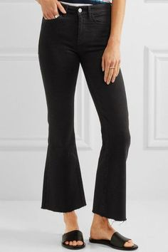 Black stretch-denim Button and concealed zip fastening at front 93% cotton, 6% polyester, 1% elastane Machine wash