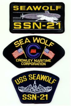 USS SEA WOLF SSN-24 & CROWLEY MARITIME CORPORATION  Original hat patches selling for $2.00 ea. including s & h. Contact ussforrestalcva59@gmail.com