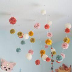 Seren's room inspiration - wool pom poms