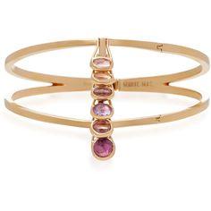 Marie Mas Dancing Vertical Rigid Bracelet ($16,000) ❤ liked on Polyvore featuring jewelry, bracelets, multi, hinged bracelet, bangle bracelet, hinged bangle, bangle jewelry and bracelets bangle