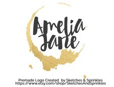 Gold Foil Logo Design Premade Gold by SketchesAndSprinkles