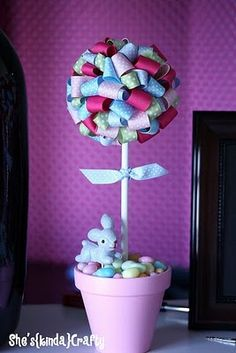Easter ribbon topiary