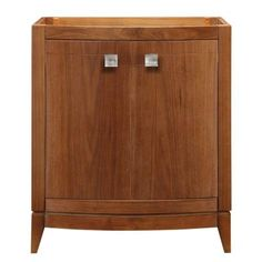 DECOLAV, Gavin 30 in. W x 21.50 in. D x 35.25 in. H Birch Vanity Cabinet Only in Medium Walnut, 5241-MWN at The Home Depot - Tablet
